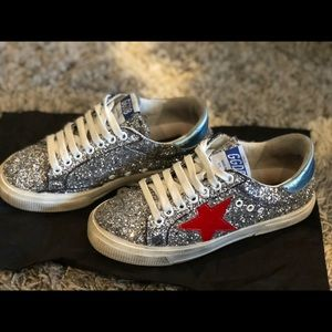 Golden Goose May Glitter Patent Sneakers 5f4d642d67